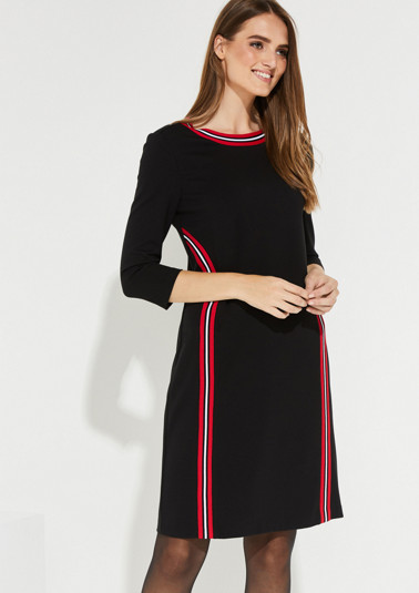 Elegant dress with striped details from comma