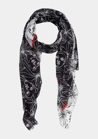 Lightweight scarf with a floral pattern from comma