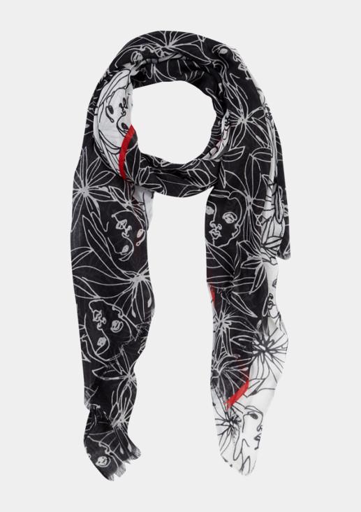 Leichter Schal mit Floralmuster