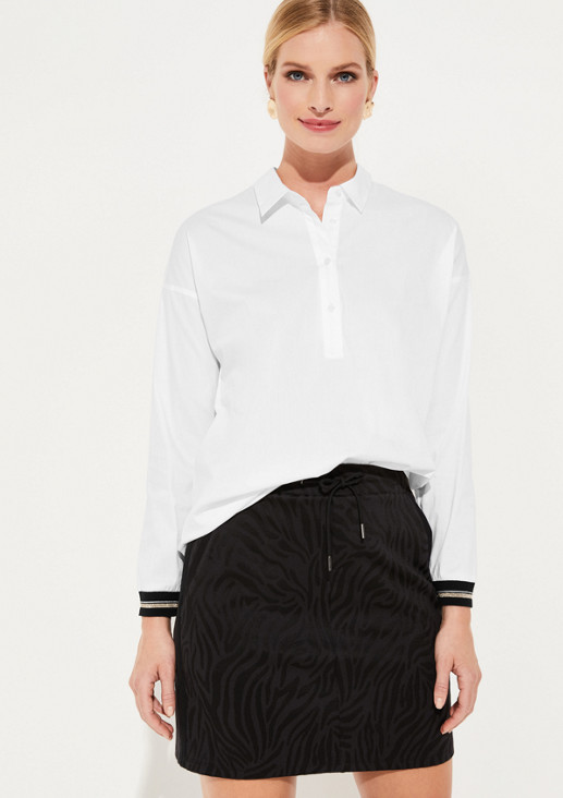 Elegant business blouse with striped details from comma