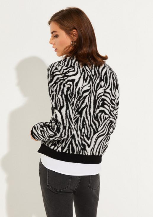 Blouson mit dekorativem Zebramuster