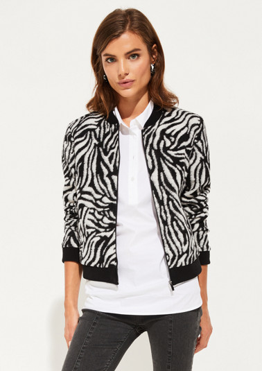 Bomber jacket with decorative zebra pattern from comma