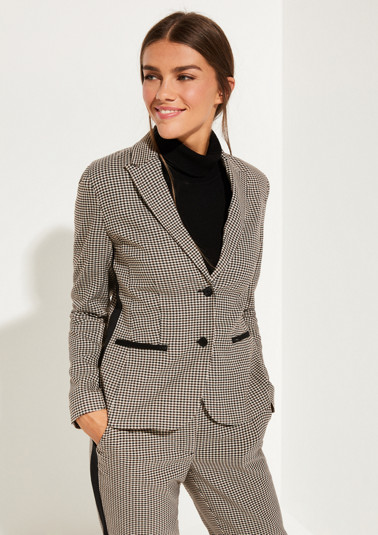 Blazer with classic houndstooth check pattern from comma