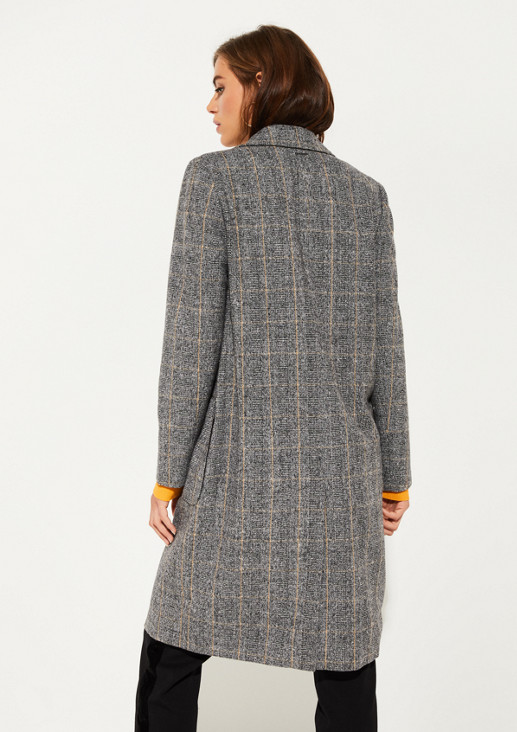 Mantel mit Glencheckmuster
