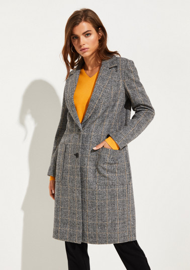 Coat with Prince of Wales check pattern from comma