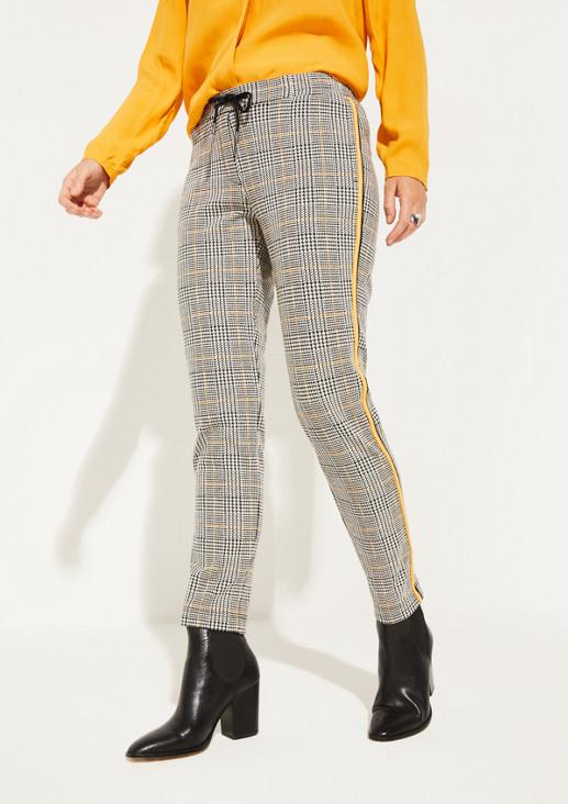 Loungepants mit dekorativem Glencheckmuster