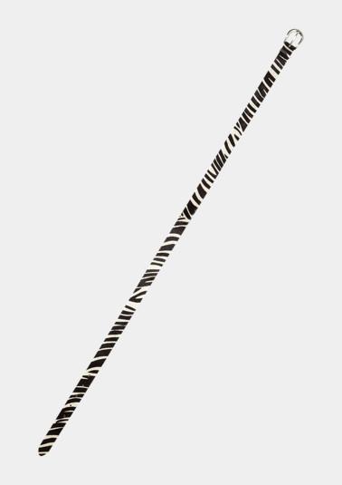 Ceinture en cuir véritable au look zèbre de Comma