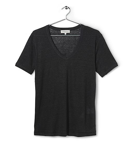 Linen V-neck T-shirt S1161001 from liebeskind