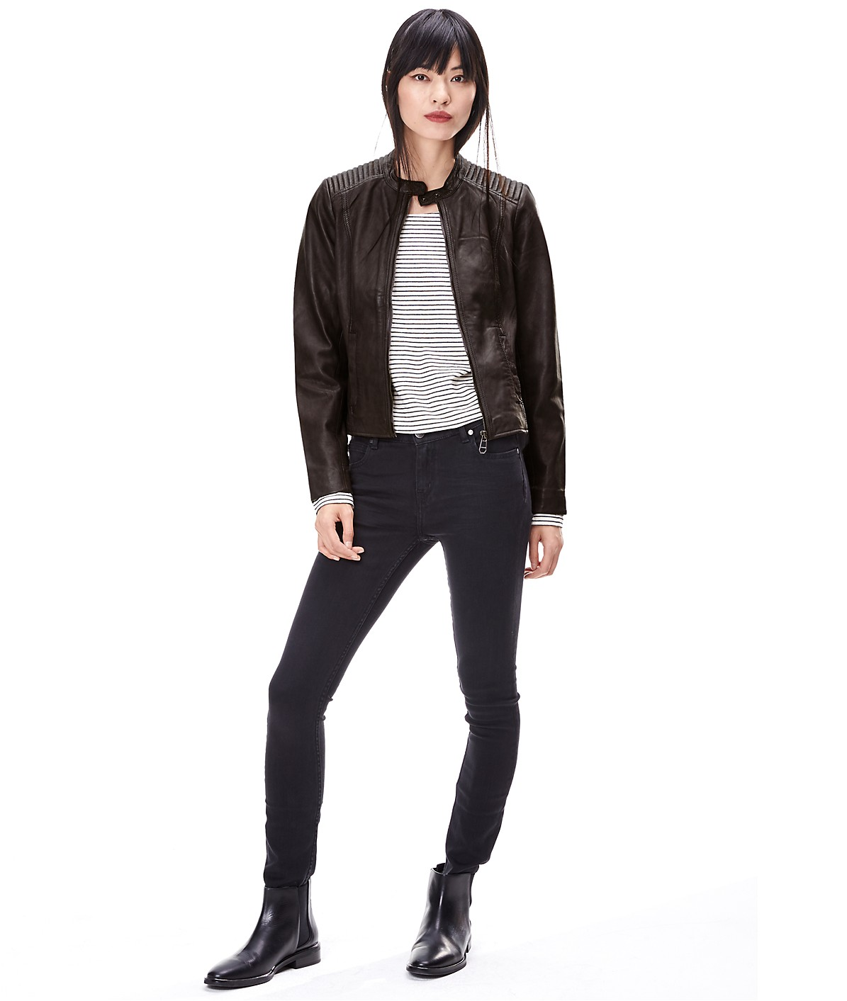 Leather jacket W1167100 from liebeskind
