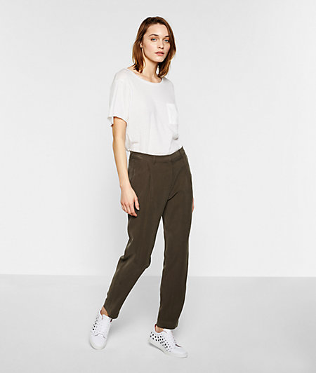 Waist-pleat trousers F2172650 from liebeskind