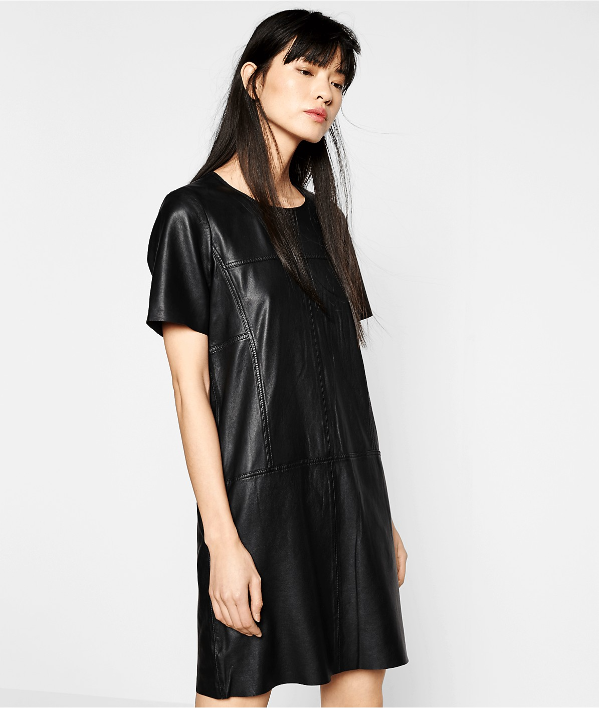 Leather dress F1175002 from liebeskind