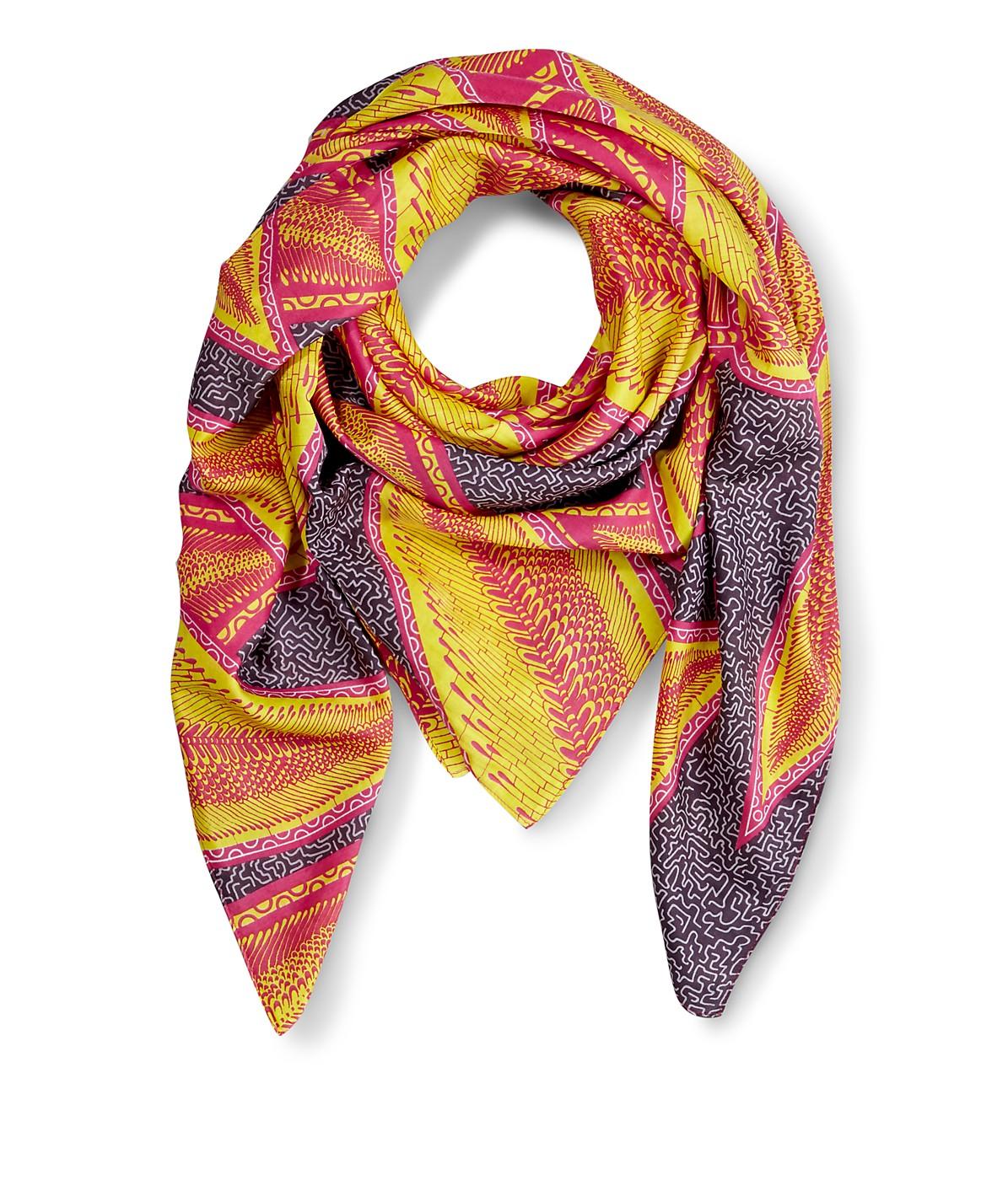Scarf with an all-over pattern from liebeskind