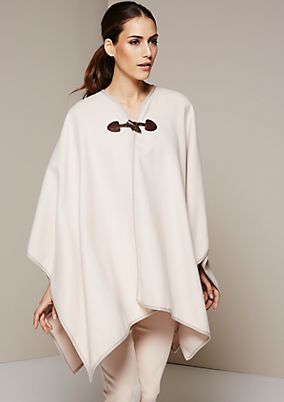 Classic poncho with an elaborate toggle fastener from s.Oliver