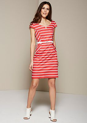 Feminine business dress in a sporty striped look from s.Oliver
