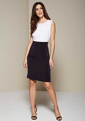 Beautiful crêpe dress in a two-tone look from s.Oliver