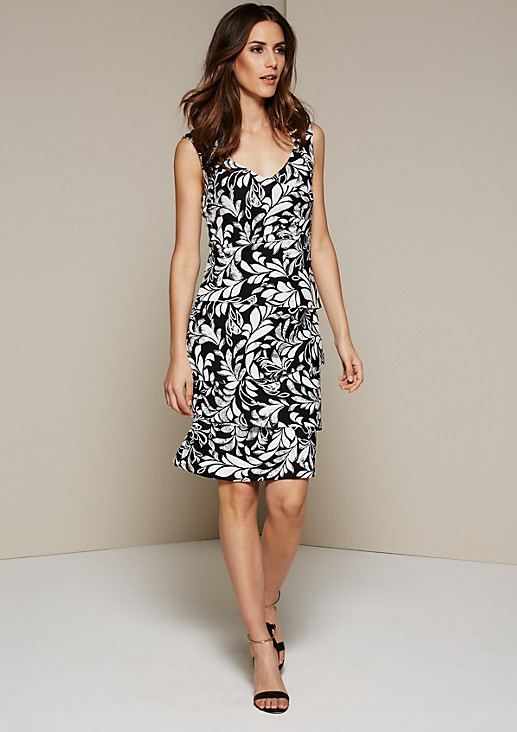 Pretty evening dress in a layered look from s.Oliver