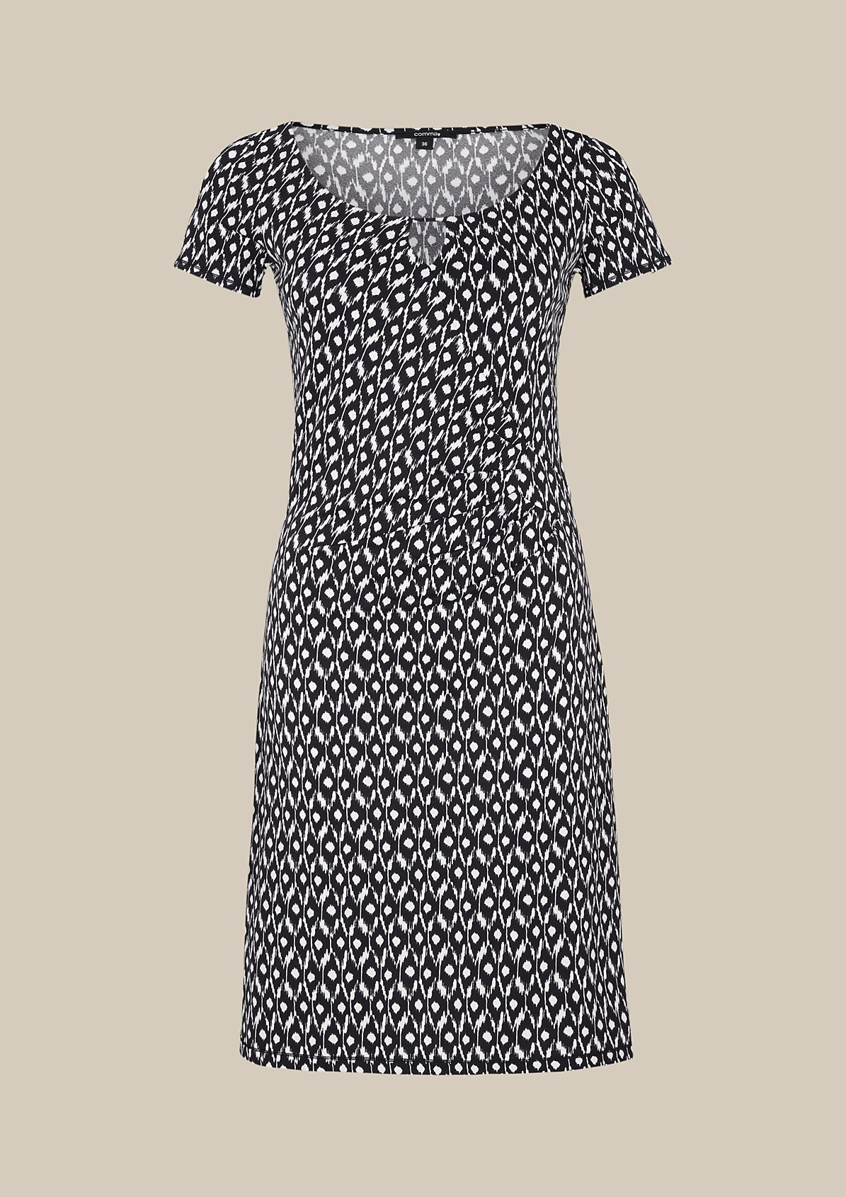 Lightweight jersey dress with a decorative all-over print from s.Oliver