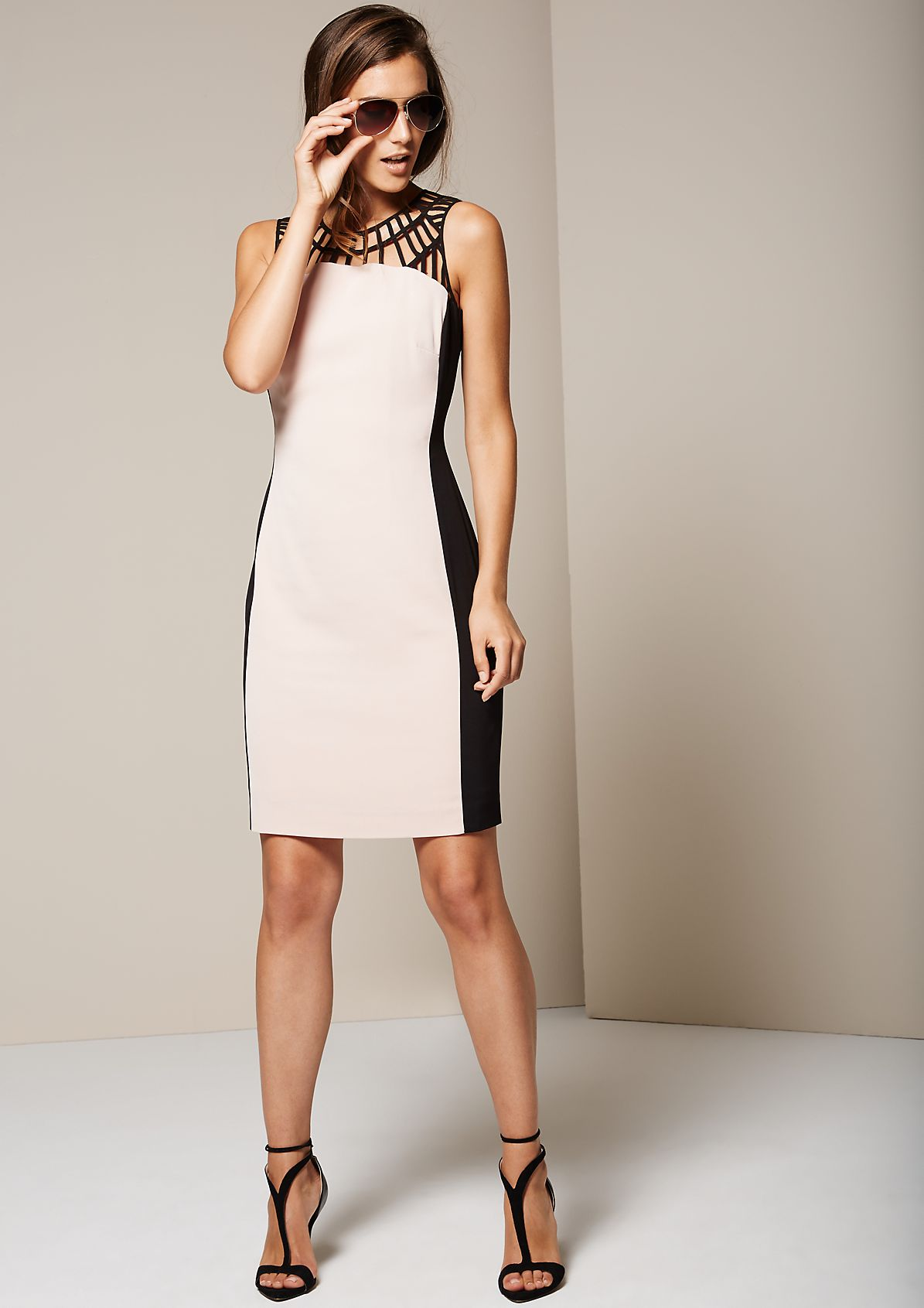 Beautiful crêpe dress with elegant details from s.Oliver