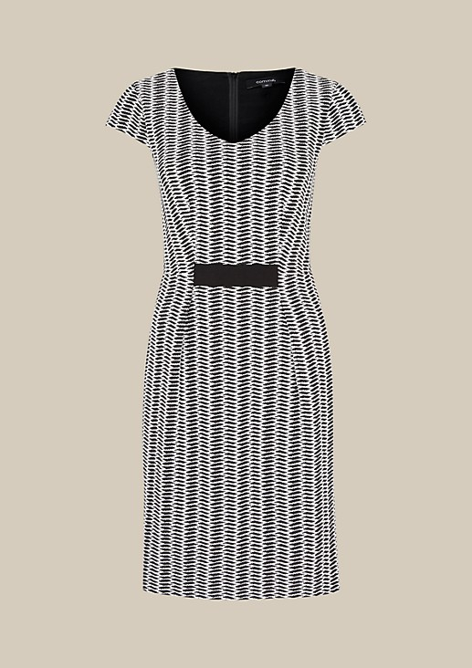 Elegant dress with a fine jacquard pattern from comma