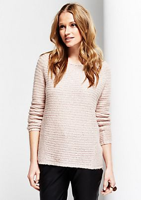 Casual knitted jumper with a sparkling sequin trim from s.Oliver