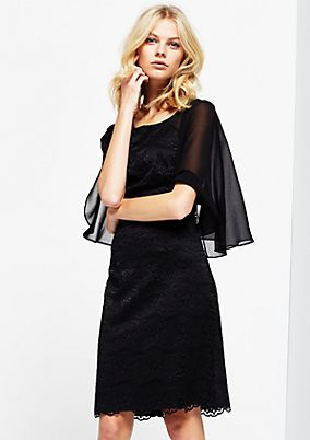 Extravagant lace dress with chiffon sleeves from s.Oliver
