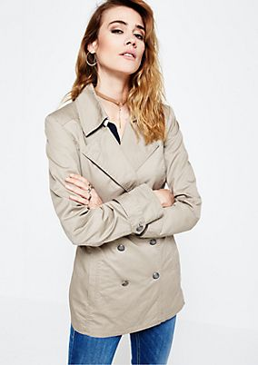 Casual long jacket with smart details from s.Oliver