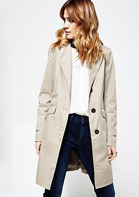Classic spring coat with beautiful details from s.Oliver