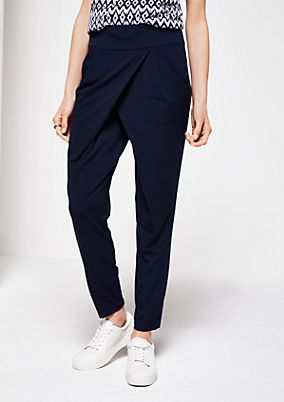 Business trousers with a fine all-over pattern from s.Oliver