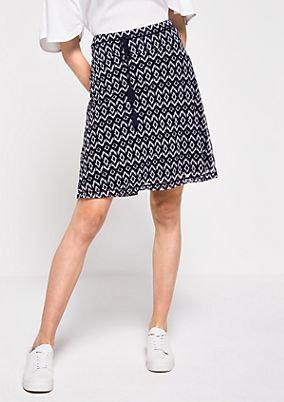 Short mesh skirt with an all-over pattern from comma