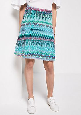Short mesh skirt with an all-over pattern from s.Oliver