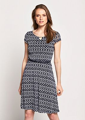Delicate mesh dress with an all-over print from s.Oliver