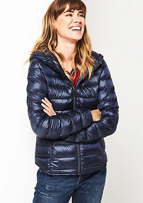 Soft down jacket with a hood from s.Oliver