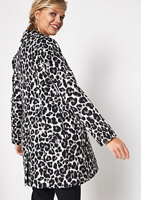 Winter coat with leopardskin pattern from comma