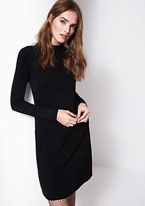 Elegant knitted dress with gemstone decoration from comma