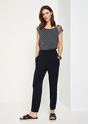 Casual trousers in a wrap-over look from comma
