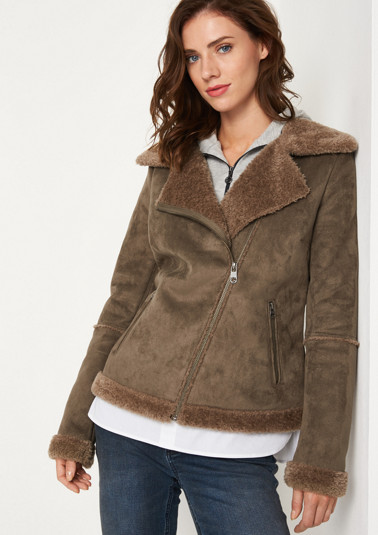 Soft lambskin leather biker jacket from comma