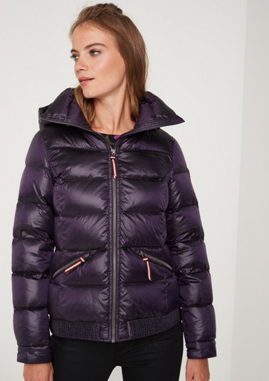 Warm quilted jacket with hood from comma