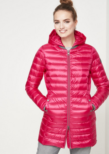 Lightweight summer down coat with detachable hood from comma