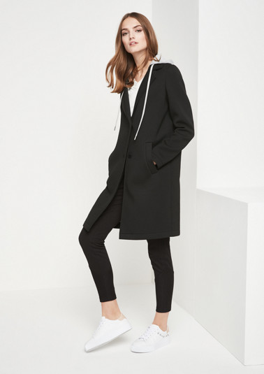 Soft scuba coat with hood from comma