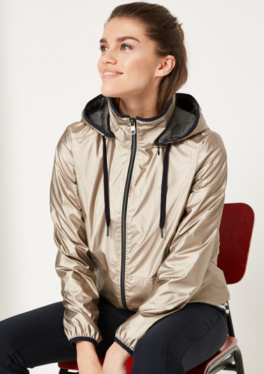 Extravagant bomber jacket in a gold, metallic look from comma