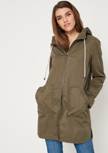 Casual cotton parka with a hood from comma
