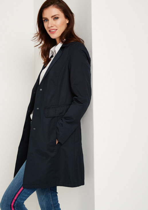 Lightweight twill coat with sophisticated details from comma