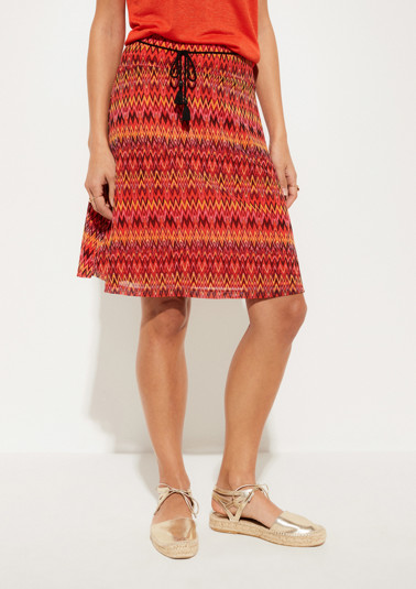 Delicate mesh skirt with a colourful pattern from comma