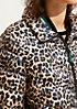 Lightweight quilted jacket with an all-over leopard print from comma