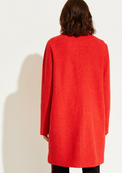 Bouclé coat with smart details from comma