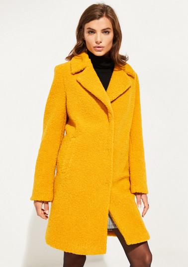 Manteau en maille bouclette douce de Comma