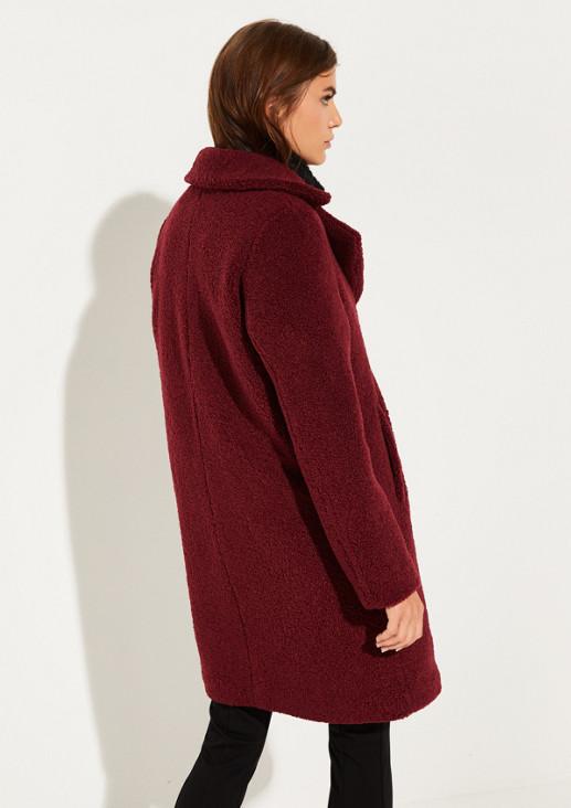 Mantel aus weichem Boucle