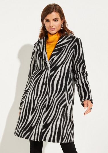 Kuscheliger Mantel mit Zebramuster
