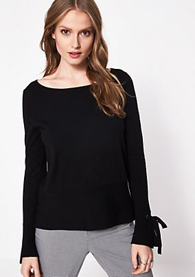 Knitted jumper with sophisticated details from comma
