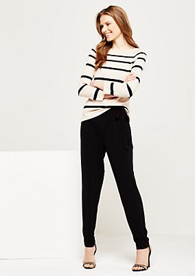 Lightweight, 3/4-sleeve knitted jumper with a trendy striped pattern from s.Oliver